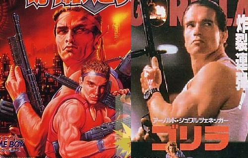 Games/HQs: Quando as capas dos games copiam os cartazes dos filmes Contra-III