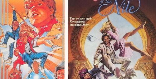 Games/HQs: Quando as capas dos games copiam os cartazes dos filmes Goonies-VG-Joia-do-Nilo