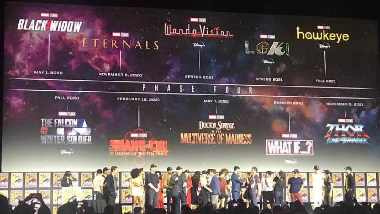 Anunciado o calendário da Fase 4 do Universo Cinematográfico da Marvel