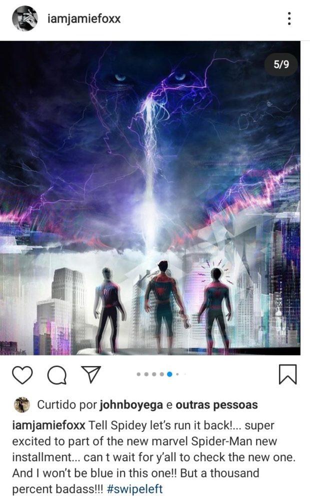Homem-Aranha 3 | Jamie Foxx Irá Retornar Ao Papel De Electro No Filme Com  Tom Holland - Cinema Com Rapadura